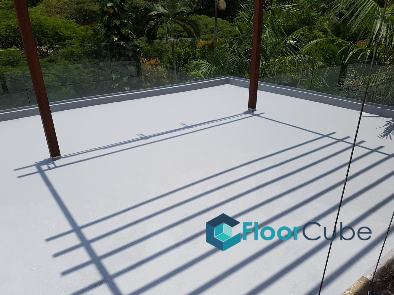 Landed roof terrace epoxy flooring upper thomson for 2 boon leat terrace