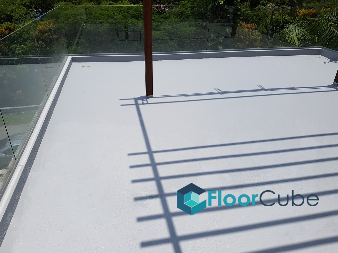 Landed roof terrace epoxy flooring upper thomson for 34 boon leat terrace